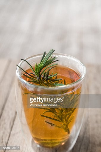 Sidra y bourbon bebida caliente : Foto de stock