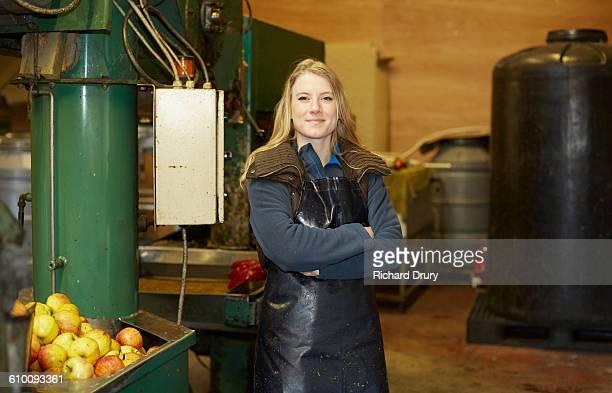 Cider maker with apple press