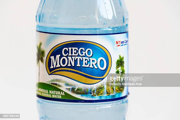 Ciego Montero mineral water bottle against white background Ciego Montero is a brand owned by Nestle Waters and is a market leader from Cienfuegos...