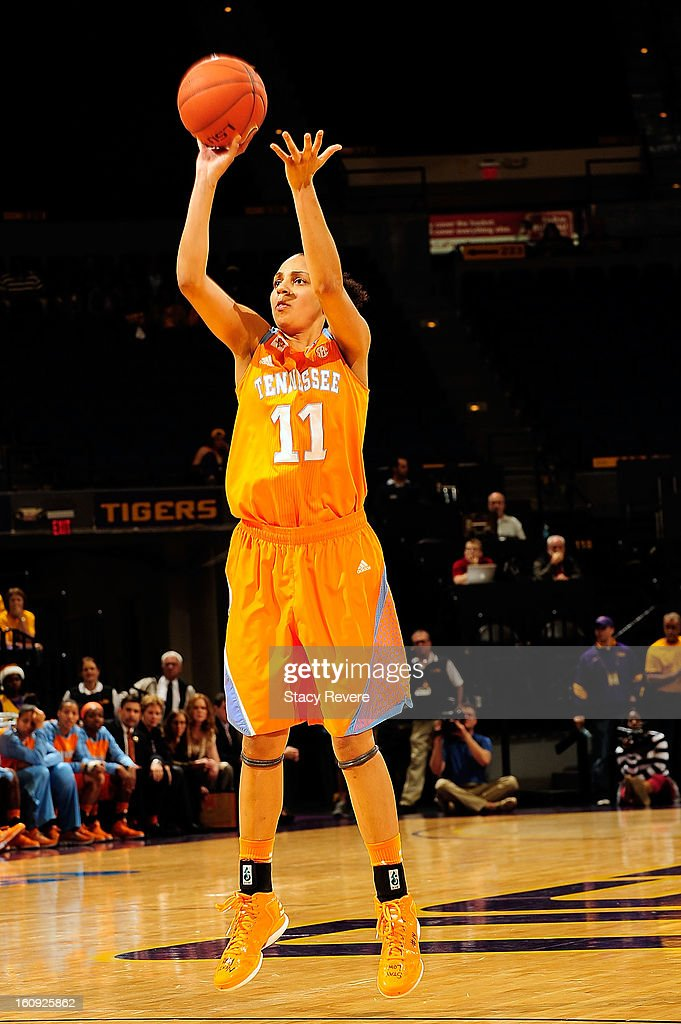 Cierra Burdick #11 of the Tennessee Volunteers takes an open shot against the LSU Tigers during a game at the Pete Maravich Assembly Center on February 7, 2013 in Baton Rouge, Louisiana. Tennessee won the game 64-62.
