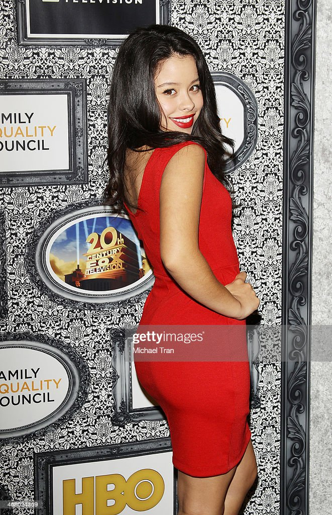 Cierra Ramirez arrives at the Family Equality Council's Los Angeles Awards dinner held at The Globe Theatre on February 8 2014 in Universal City...