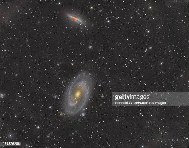 Cigar Galaxy and Bode's Galaxy in the constellation Ursa Major.