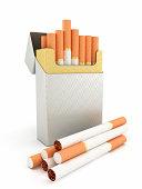 Cigarette box and cigarettes