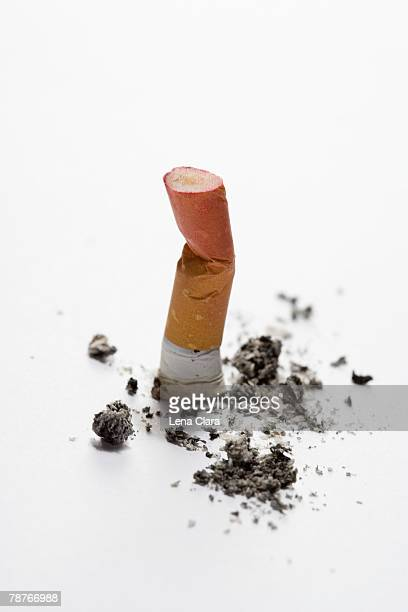 A cigarette butt