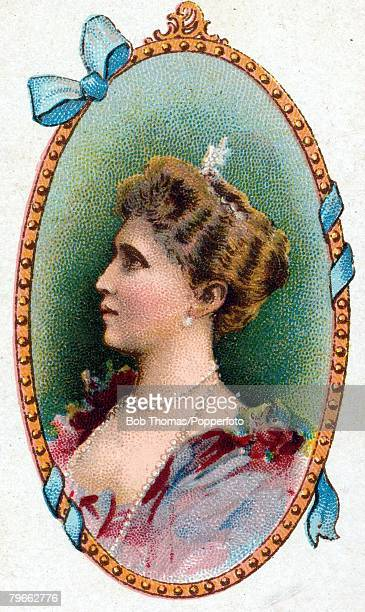 Cigarette card European Royalty HRH Princess Irene of Prussia born July 11th 1866 and married Prince Henry of Prussia in 1888