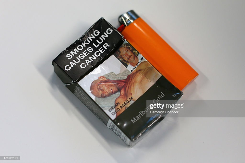 A cigarette packet with health warning advertising is seen on August 1, 2013 in Sydney, Australia. In a plan announced today, the government will increase the excise on tobacco by 12.5 per cent annually over the next four years, raising over AUD$5 billion. The hike is estimated to increase the cost of cigarettes by AUD$5 by 2016, and is the first increase in the tobacco excise since 2010.