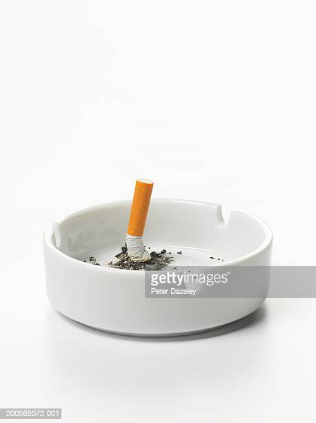 Cigarette stub in ashtray
