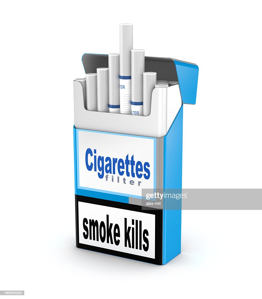 Cigarettes pack 3D illustration isolated over white : Stock Photo