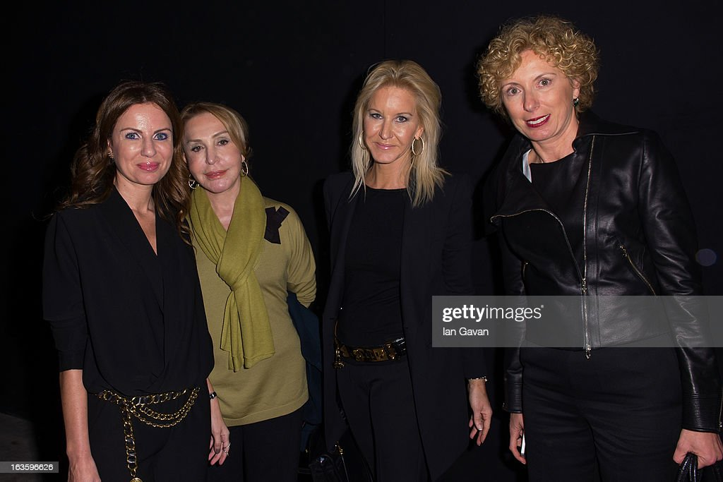 Cigdem Simavi, Diane Sahenk and Canan Bolak attend Mercedes-Benz Fashion Week Istanbul Fall/Winter 2013/14 at Antrepo 3 on March 12, 2013 in Istanbul, Turkey.