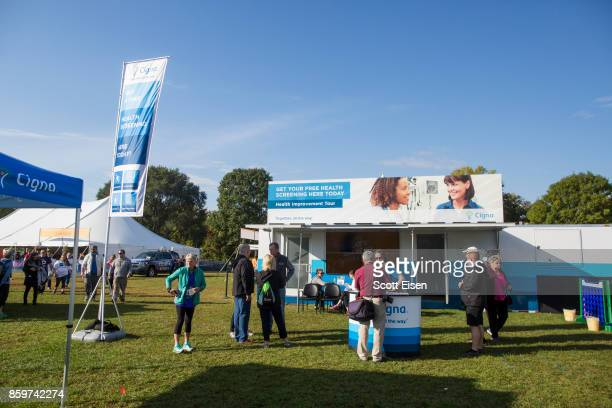 Cigna Foundation Health Improvement Tour Mobile Unit at the Annual Dempsey Challenge on October 7 2017 in Lewiston Maine