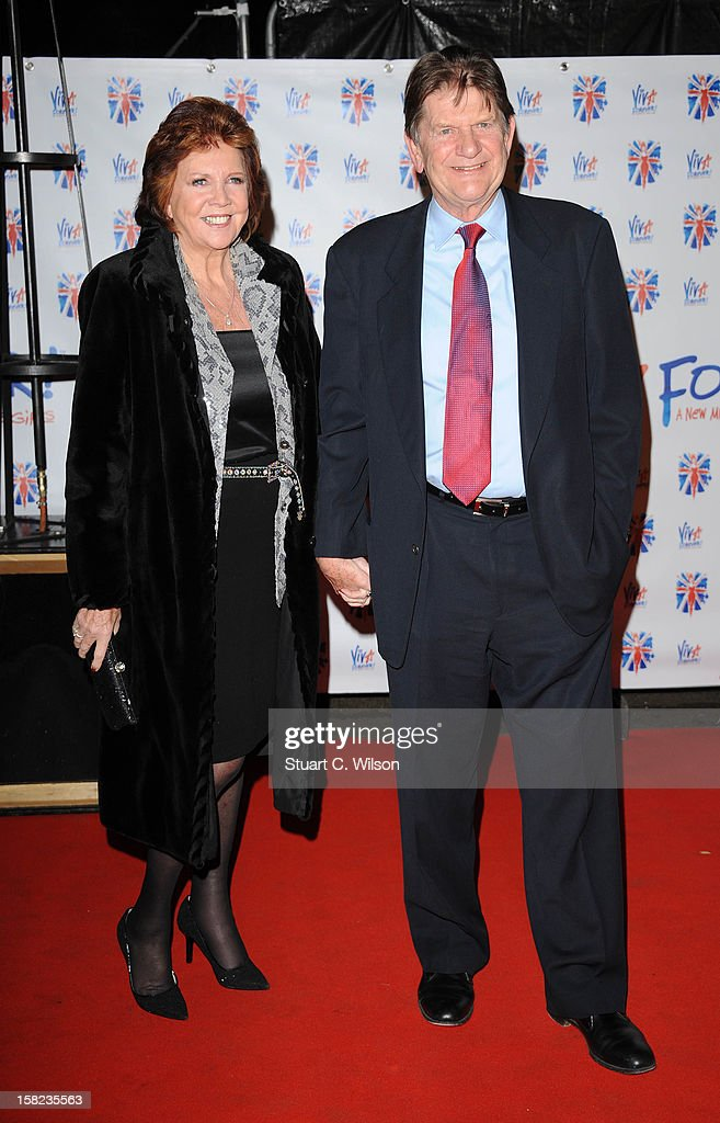 Cilla Black and John Madejski attend the after party for the press night of 'Viva Forever', a musical based on the music of The Spice Girls at Victoria Embankment Gardens on December 11, 2012 in London, England.