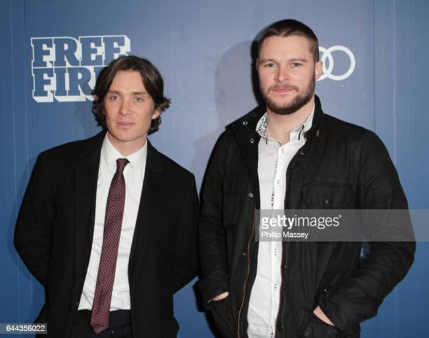 Cillian Murphy and Jack Raynor appear at the screening Of 'Free Fire' At The Audi Dublin International Film Festival on February 23 2017 in Dublin...