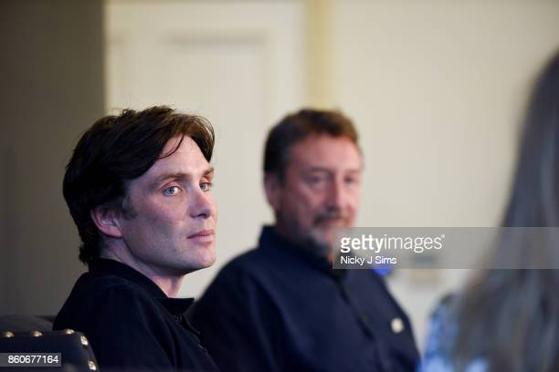 Cillian Murphy and Steven Knight during an An Evening with Steven Knight and Cillian Murphy from Peaky Blinders at Esquire Townhouse with Dior at...