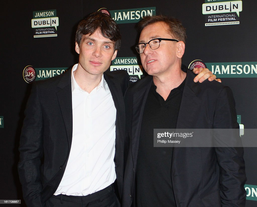 Cillian Murphy and Tim Roth attend a Gala Screening of 'Broken' as part of the Jameson International Film Festival at Savoy Cinema on February 14, 2013 in Dublin, Ireland.