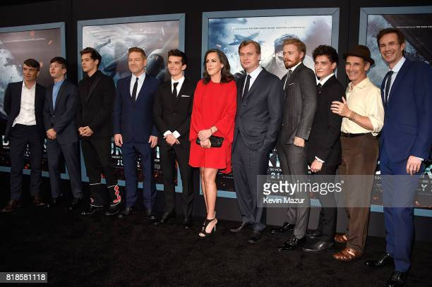 Cillian Murphy Barry Keoghan Harry Styles Kenneth Branagh Fionn Whitehead producer Emma Thomas director/writer Christopher Nolan Jack Lowden Aneurin...