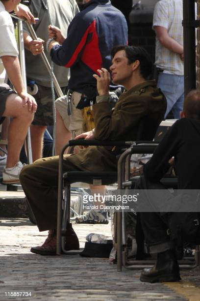 Cillian Murphy during Cillian Murphy on Location for 'The Edge of Love' June 5 2007 at London in London Great Britain
