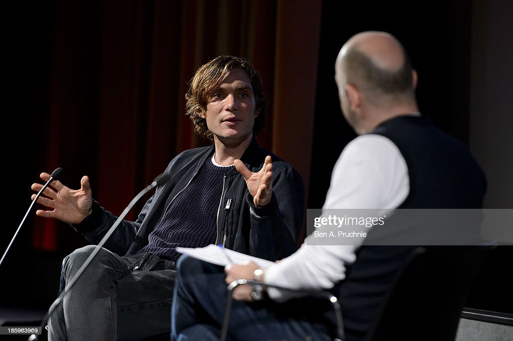 <a gi-track='captionPersonalityLinkClicked' href=/galleries/search?phrase=Cillian+Murphy&family=editorial&specificpeople=224782 ng-click='$event.stopPropagation()'>Cillian Murphy</a> introduces his BFI Screen Epiphany 'Scarecrow' at BFI Southbank on October 26, 2013 in London, England.