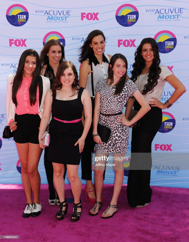Cimorelli arrives at the 2012 Teen Choice Awards at Gibson Amphitheatre on July 22, 2012 in Universal City, California.