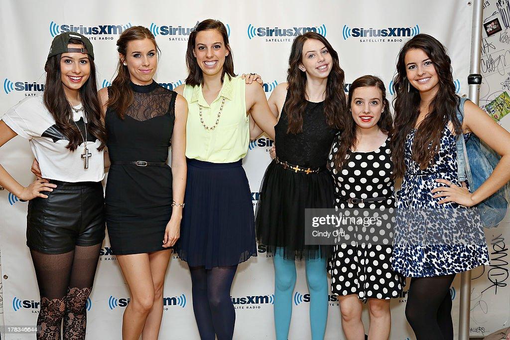 Cimorelli visits the SiriusXM Studios on August 29, 2013 in New York City.