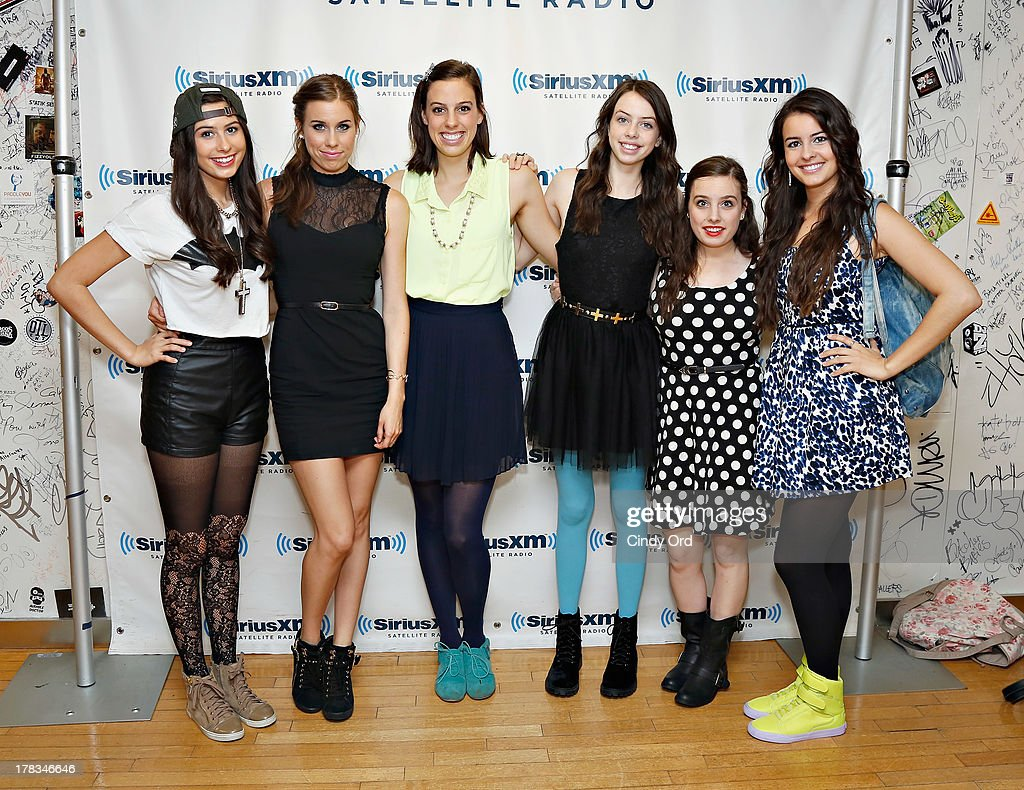 Cimorelli visits the SiriusXM Studios on August 29, 2013 in New York City.