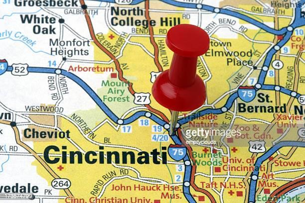 Cincinnati, Ohio on a map.