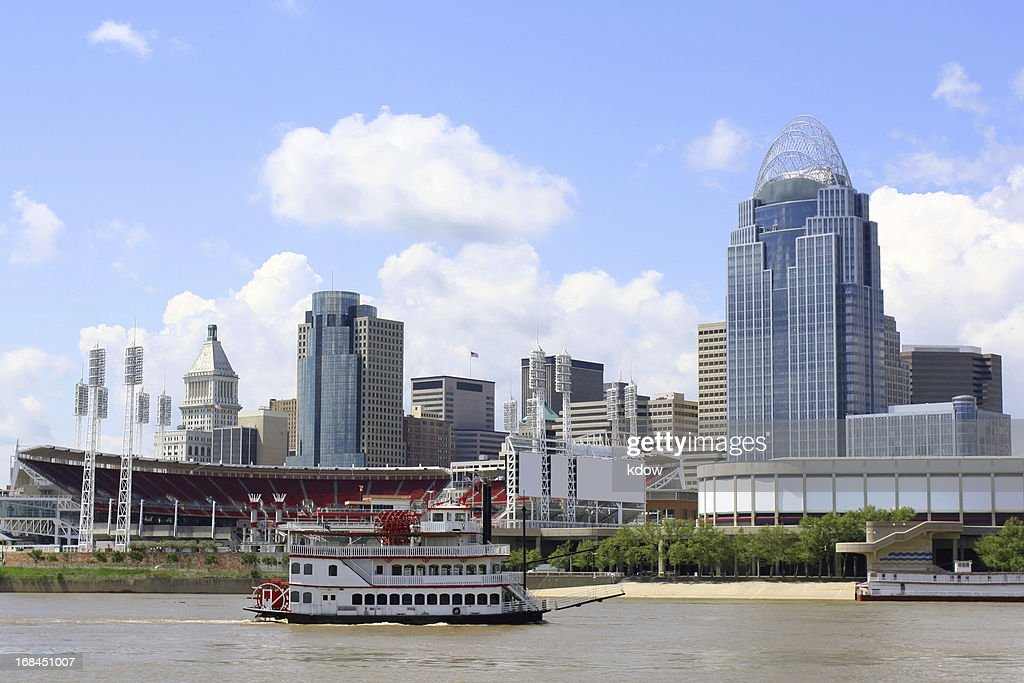 Cincinnati Riverfront Skyline : Stock Photo
