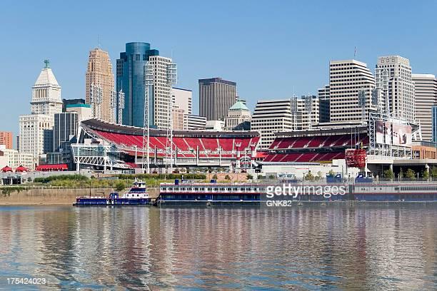 Cincinnati Riverfront Skyline with Great American Ballpark