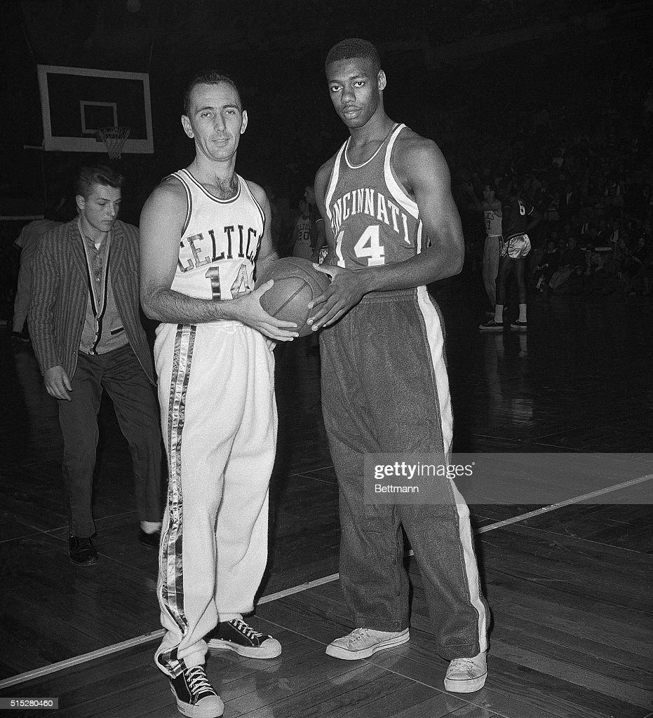 Star Basketball Players Bob Cousy and Oscar Roberston