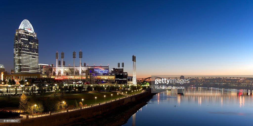 Cincinnati water front at dawn