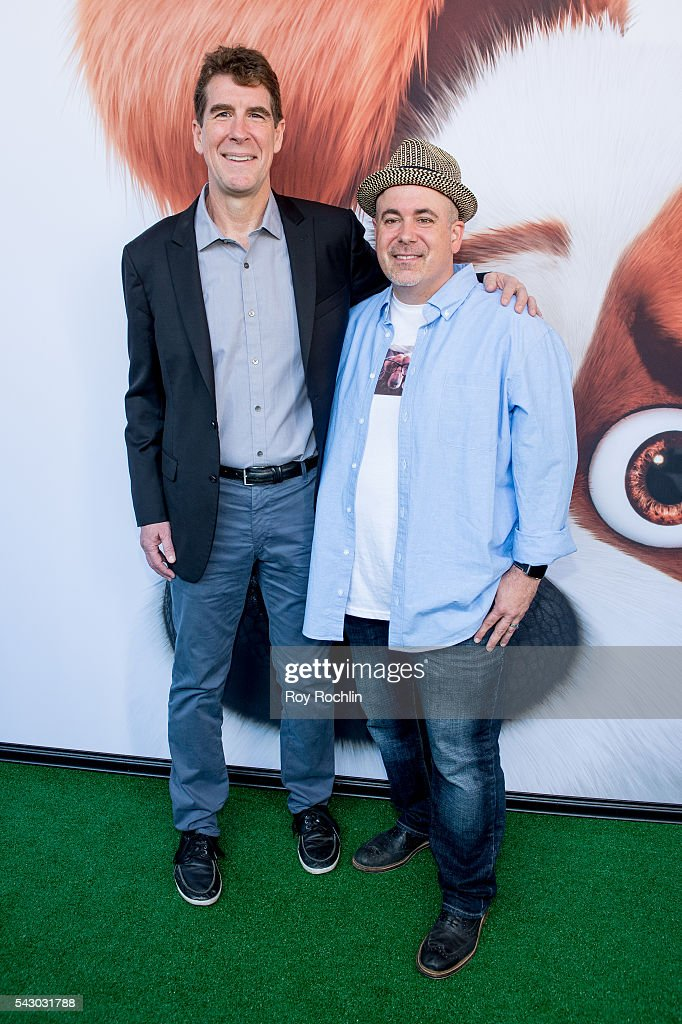 Cinco Paul with Den Daurio attend 'Secret Life Of Pets' New York Premiere on June 25, 2016 in New York City.