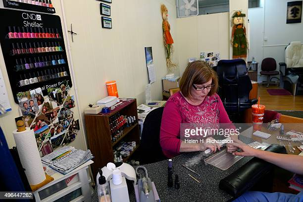 Cinda Fortune owner of Nail Magic nail salon talks about the impact on the town from the recent sexting scandal that officials believe involves...