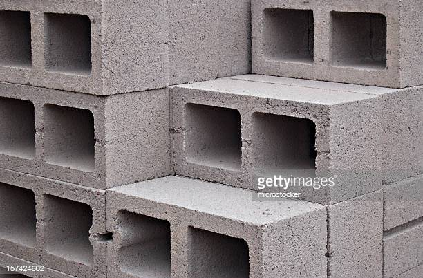 Concrete Block Stock Photos And Pictures Getty Images - Cinder block dimensions