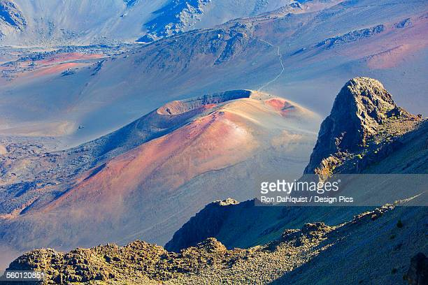 Cinder cone in Haleakala Crater viewed from Kalahaku Overlook in Haleakala National Park