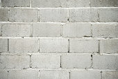 Gritty Gray Cinderblock Wall Background Full Frame