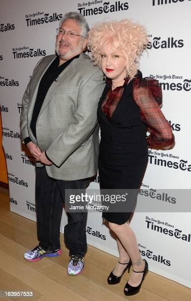 Cindi Lauper and Harvey Fierstein attend TimesTalks Presents 'Kinky Boots' at TheTimesCenter on March 18 2013 in New York City