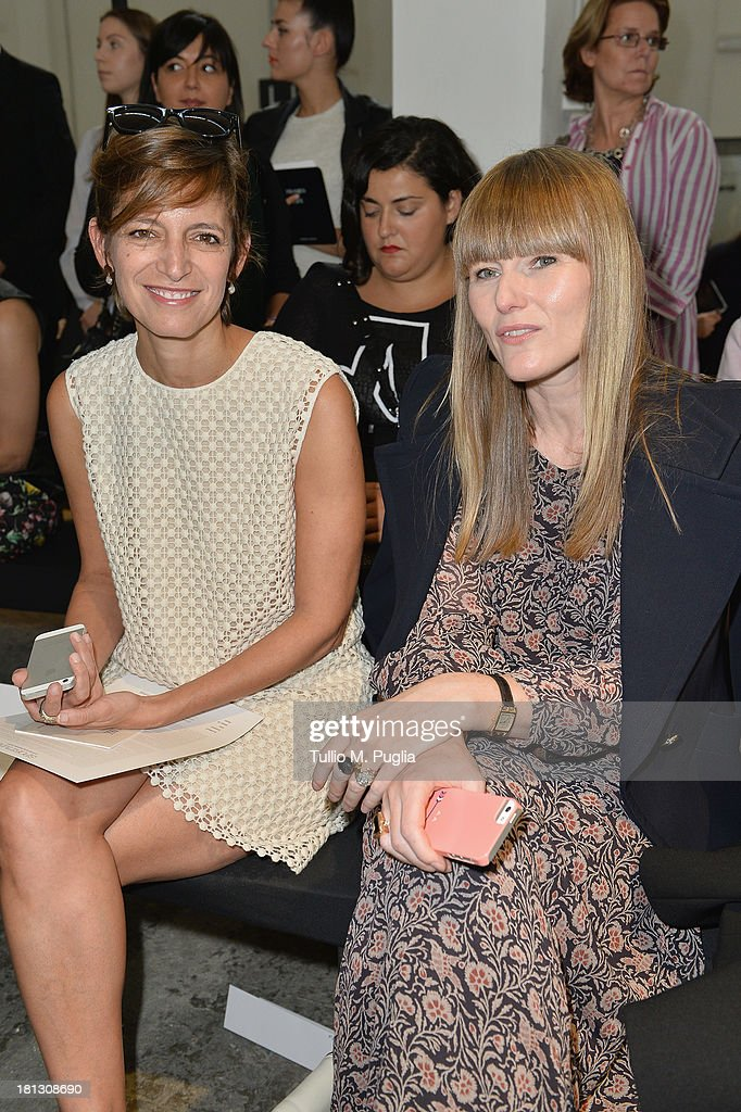 Cindi Leive and guest attend the Sportmax show as a part of Milan Fashion Week Womenswear Spring/Summer 2014 on September 20, 2013 in Milan, Italy.