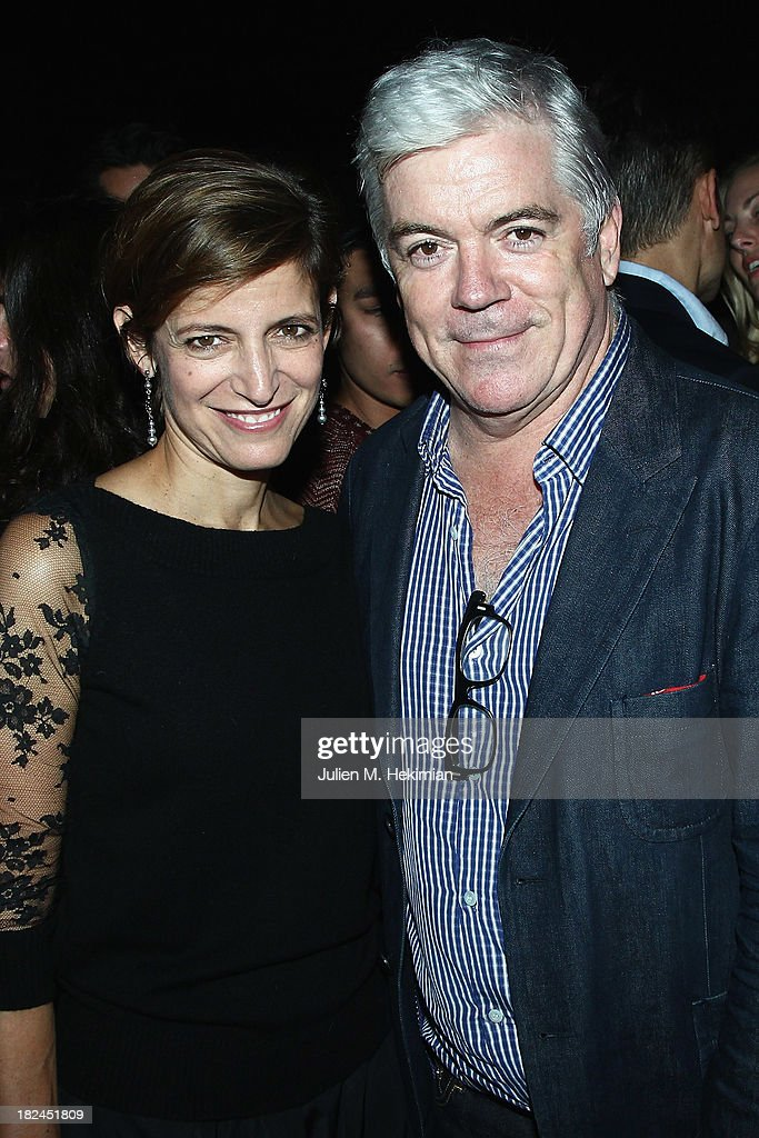 Cindi Leive and <a gi-track='captionPersonalityLinkClicked' href=/galleries/search?phrase=Tim+Blanks&family=editorial&specificpeople=714535 ng-click='$event.stopPropagation()'>Tim Blanks</a> attend the Glamour dinner for Patrick Demarchelier as part of the Paris Fashion Week Womenswear Spring/Summer 2014 at Monsieur Bleu restaurant on September 29, 2013 in Paris, France.