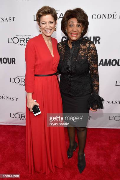 Cindi Leive and US Representative Maxine Waters attends Glamour's 2017 Women of The Year Awards at Kings Theatre on November 13 2017 in Brooklyn New...
