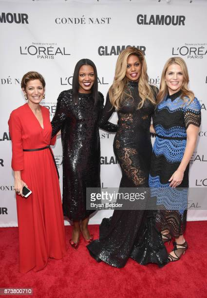 Cindi Leive Anne Marie NelsonBogle Laverne Cox and Alison Moore attend Glamour's 2017 Women of The Year Awards at Kings Theatre on November 13 2017...