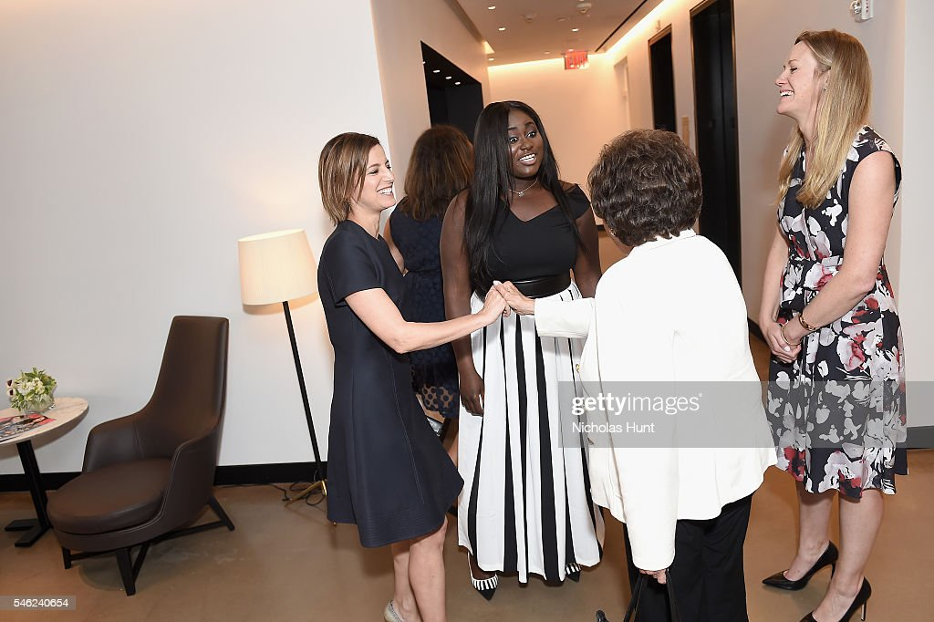 Cindi Leive Danielle Brooks Nita Lowey and Wendy Naugle attend a luncheon hosted by Glamour and Facebook to discuss the 2016 election at Samsung 837...