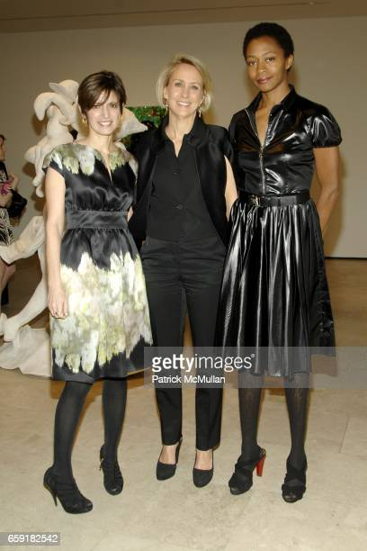 Cindi Leive Suzanne Donaldson and Kara Walker attend Cindi Leive and Bill Wackermann host Glamour Magazine's 'The Glamour Project' art exhibit in...