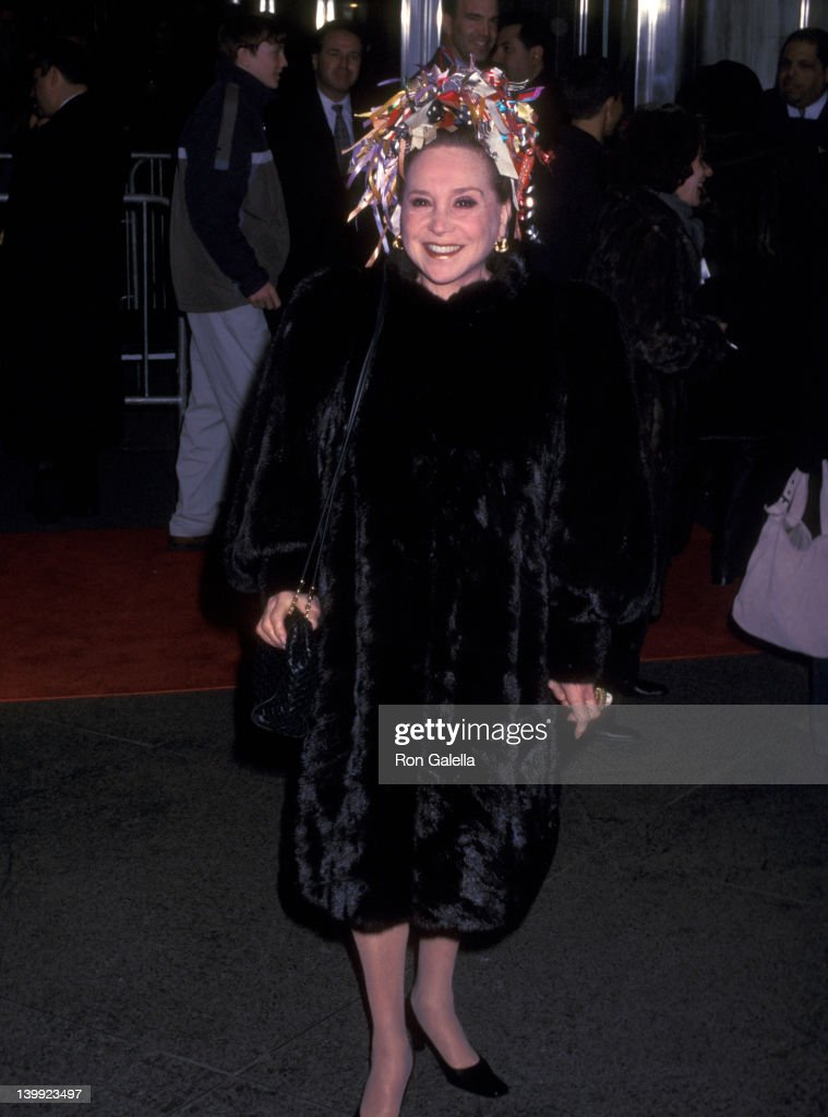 Cindy Adams at the Premiere of 'Nicholas Nickleby', Beekman Theater, New York City.