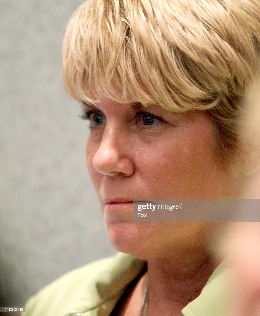 Cindy Anthony listens as the jury reads the not guilty verdict in the murder trial of her daughter Cindy Anthony at the Orange County Courthouse on July 5, 2011 in Orlando, Florida. Casey Anthony had been accused of murdering her two-year-old daughter Caylee in 2008..