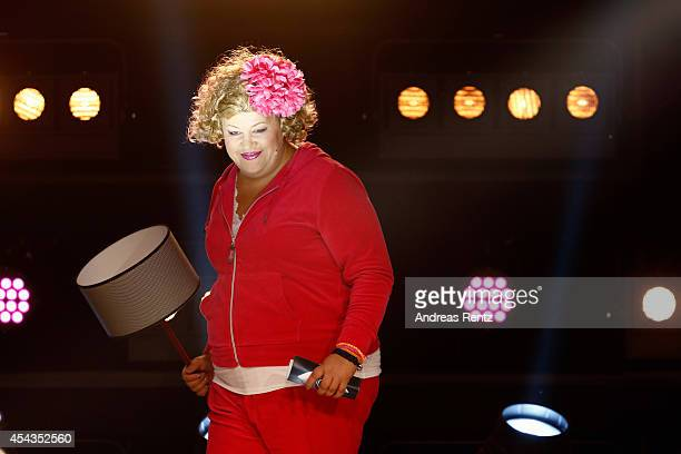 Cindy aus Marzahn attends the Promi Big Brother finals at Coloneum on August 29 2014 in Cologne Germany