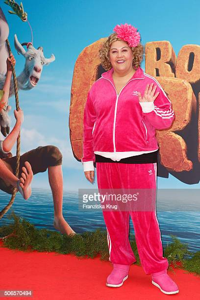 Cindy aus Marzahn attends the 'Robinson Crusoe' Berlin Premiere at the Zoo Palast on January 24 2016 in Berlin Germany