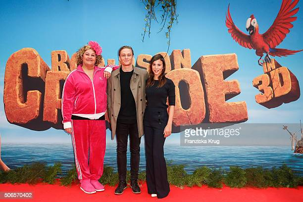 Cindy aus Marzahn Matthias Schweighoefer and Aylin Tezel attend the 'Robinson Crusoe' Berlin Premiere at the Zoo Palast on January 24 2016 in Berlin...