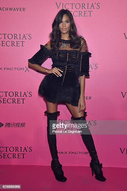 Cindy Bruna attends the 2016 Victoria's Secret Fashion Show after party on November 30 2016 in Paris France