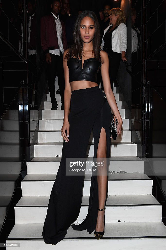 <a gi-track='captionPersonalityLinkClicked' href=/galleries/search?phrase=Cindy+Bruna&family=editorial&specificpeople=11366881 ng-click='$event.stopPropagation()'>Cindy Bruna</a> attends the Balmain Menswear Spring/Summer 2017 after party as part of Paris Fashion Week at Les Bains on June 25, 2016 in Paris, France.
