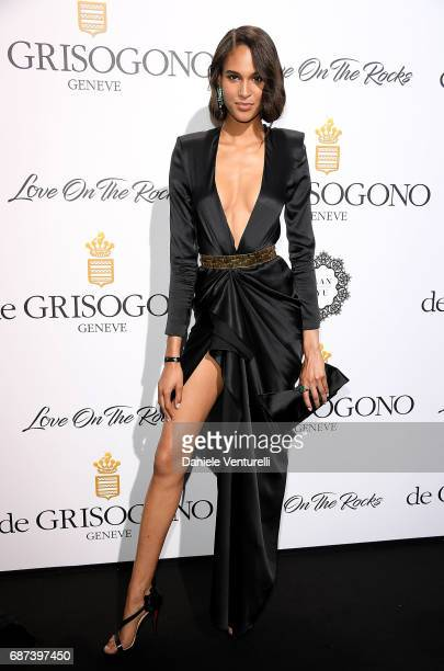 Cindy Bruna attends the De Grisogono 'Love On The Rocks' party during the 70th annual Cannes Film Festival at Hotel du CapEdenRoc on May 23 2017 in...