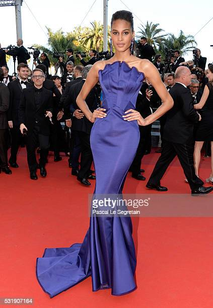 Cindy Bruna attends the 'Julieta' premiere during the 69th annual Cannes Film Festival at the Palais des Festivals on May 17 2016 in Cannes France